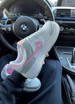 Найк женские форсы аир форс кеды кроссовки nike air force shadow grey pink4 фото