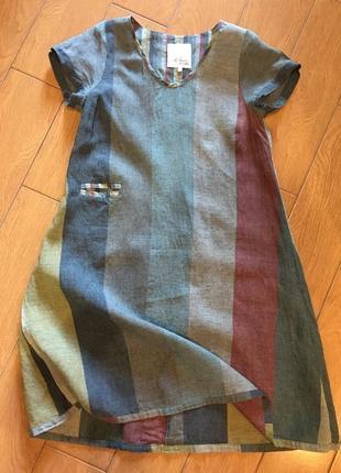 Стильное платье из льна