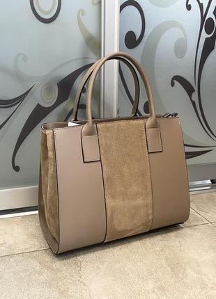 Сумка кожаная каркасная деловая сумка сумка под документы комбинированная сумка