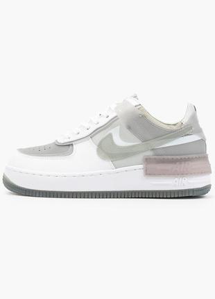 Nike air force shadow white grey кроссовки найк женские форсы аир форс кеды2 фото