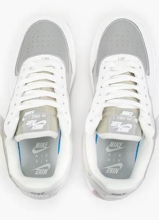 Nike air force shadow white grey кроссовки найк женские форсы аир форс кеды3 фото