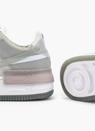 Nike air force shadow white grey кроссовки найк женские форсы аир форс кеды6 фото