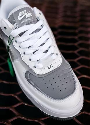 Nike air force shadow white grey кроссовки найк аир форс кеды женские2 фото