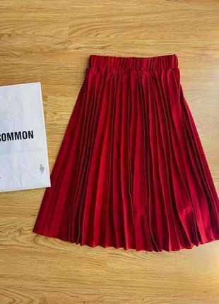 Шикарная юбка плиссе/плиссированная юбка