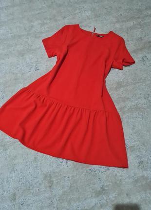 Брендовое платье dunnes шикарное красное размер л, хл