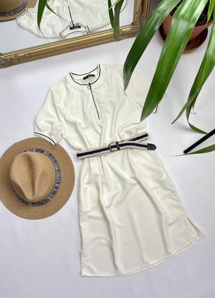 Натуральное платье туничка с поясом - 💯 вискоза