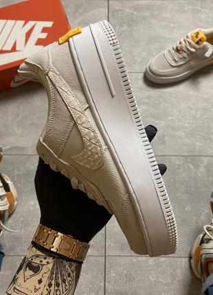 Nike air force shadow white orange кроссовки найк женские форсы аир форс кеды5 фото