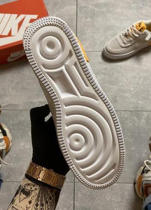 Nike air force shadow white orange кроссовки найк женские форсы аир форс кеды4 фото