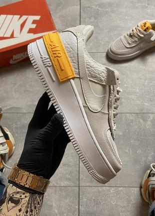 Nike air force shadow white orange кроссовки найк женские форсы аир форс кеды3 фото