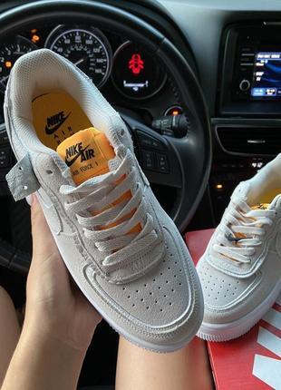 Nike air force 1 shadow white orangeкроссовки найк женские форсы аир форс кеды обувь2 фото