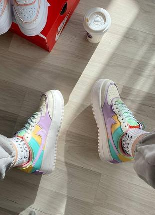 Nike air force shadow beige violet кроссовки найк женские форсы аир форс кеды5 фото