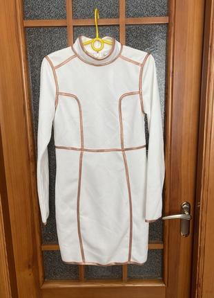 Красивое белое платье тубус rare london