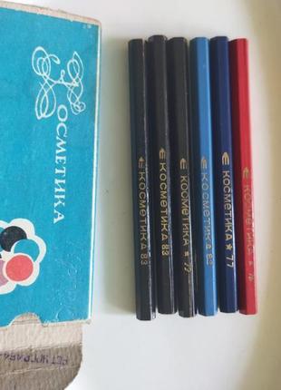 Винтажные косметические контурные карандаши