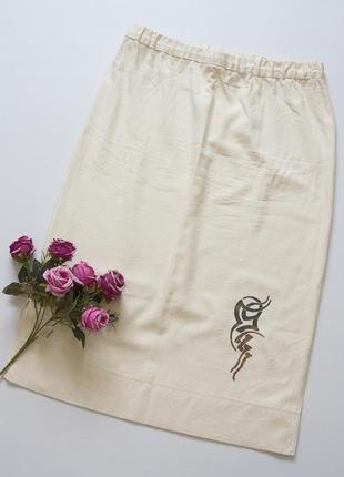 Шелковая юбка миди, натуральный шелк.