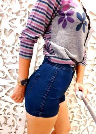 Отличные стрейчевые шорты joni short topshop /размер 6/34