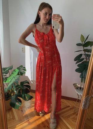 Червоне максі плаття new look