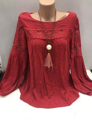 Шикарная вискозная блуза