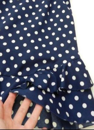 Платье в горошек миние открыта спина4 фото