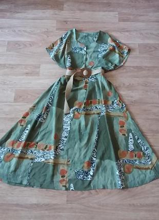 Платье миди на пуговицах, сукня міді, xxxl-xxxxl