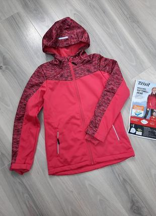 Softshell термо куртка ветровка crivit 122/128, 134/140 см, софтшелл