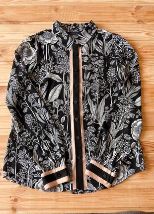 Tommy hilfiger рубашка блуза в цветочный принт