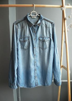 Джинсовая рубашка mavi размер m-l