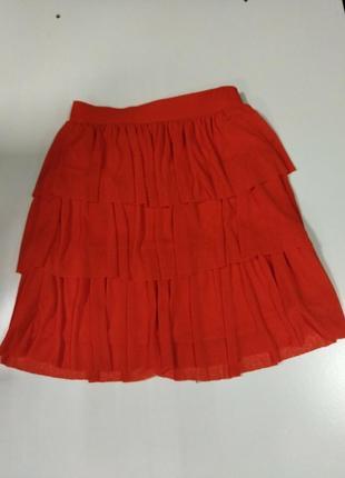 Легкая летняя юпочка спідничка красная размер м