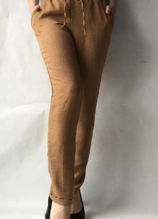 Стильні брюки літні льон