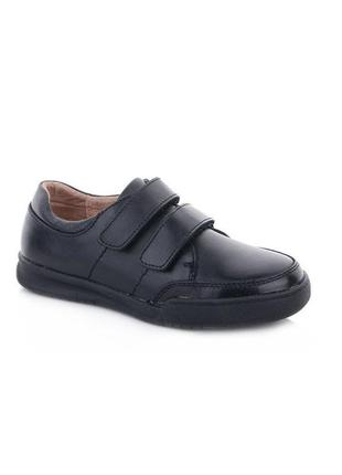 Кожаные туфли на липучках для мальчика кожа kangfu 28-32