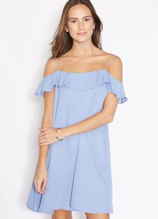 Небесное голубое платье zara