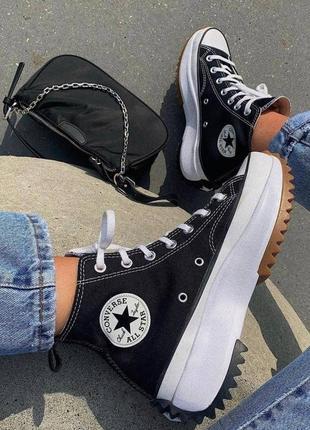 Шикарные женские кроссовки кеды converse run star hike наложенный платёж