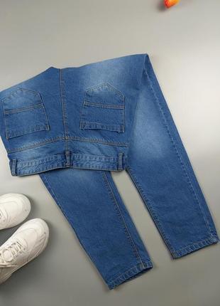 Джинсы мом синие базовые 10р2 фото