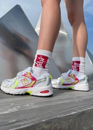 Шикарные женские кроссовки new balance 530 sulfur yellow наложенный платёж