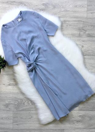 Небесно голубое платье zara