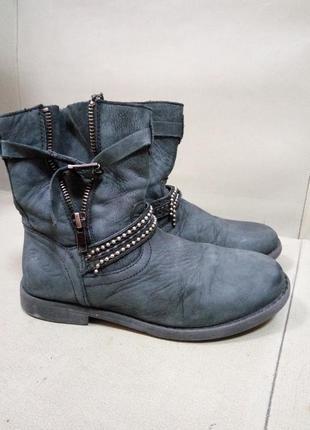 Кожаные демисезонные ботинки 21,5 см