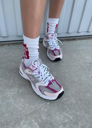 Шикарные женские кроссовки new balance 530 pink purple наложенный платёж7 фото