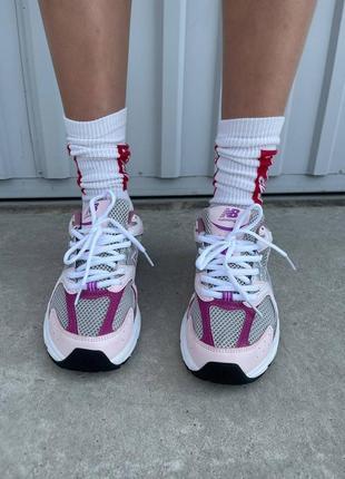 Шикарные женские кроссовки new balance 530 pink purple наложенный платёж8 фото
