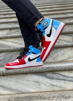 ❤️ женские кроссовки nike jordan retro 1 feraless unc chicago