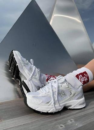 Шикарные женские кроссовки new balance 530 silver white наложенный платёж