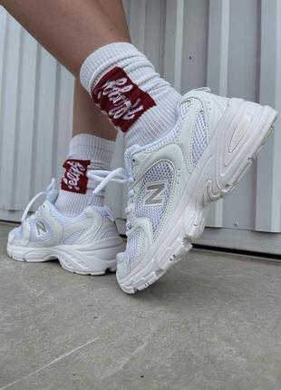 Шикарные женские кроссовки new balance 530 white наложенный платёж