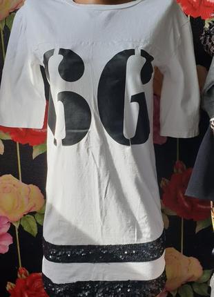 Спортивное платье футболка р 40