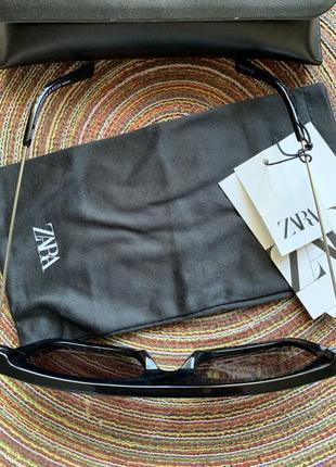 Новые солнцезащитные очки с чехлом zara оригинал3 фото