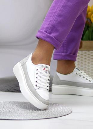 Кожаные кроссовки3 фото