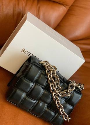 💯 шикарная кожаная сумка с цепью