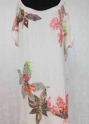 Twin-set(simona barberi) платье,расшитое пайеткой