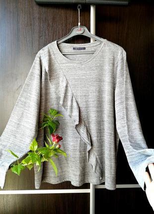 Шикарный, тонкий, лёгкий оригинальный реглан блузка блуза кофта. хлопок. marks&spencer