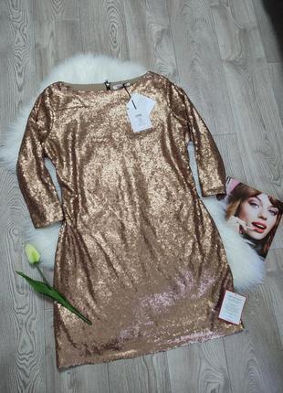 Нарядное женское платье вечернее в пайетках