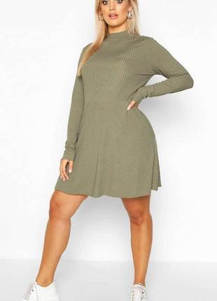 Новое платье гольф в рубчик 16/50-52 размера