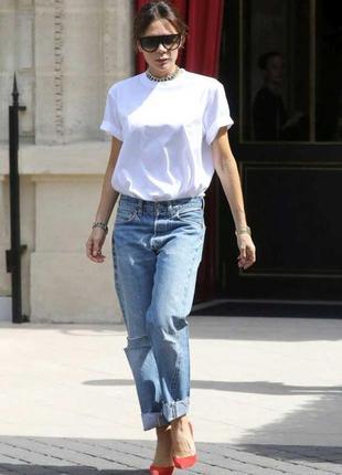 Новая!!! базовая белая футболка свободного кроя