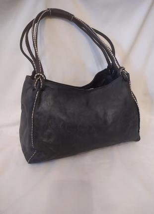 Женская сумка plinio visona натуральная кожа